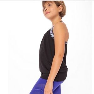 Lululemon's Iviva Double Dutch Black Gray Tank 10